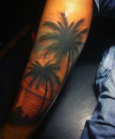 Beach Tattoos Ideas For Men On Legs
