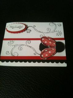 stampin up lady bug card