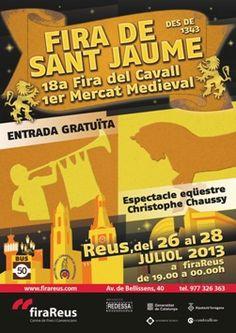 Fira de Sant Jaume a Reus, 18a Fira del Cavall i 1r Mercat Medieval (juliol 2013)