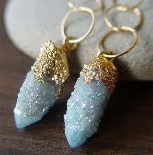 aqua and gold jewelry - Google Search
