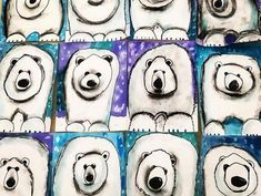 The cutest polar bears! grade guided drawing with watercolor and charcoal sh… – janneke The cutest polar bears! grade guided drawing with watercolor and charcoal sh… The cutest polar bears! grade guided drawing with watercolor and charcoal shading. Classroom Art Projects, School Art Projects, Art Classroom, First Grade Art, 4th Grade Art, Classe D'art, Winter Art Projects, Art Lessons Elementary, Elementary Education