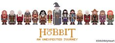 The Hobbit Cross Stitch Pattern - An Unexpected Journey (PDF) INSTANT DOWNLOAD