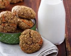 Carrot Cookies, Healthy Cookies, 200 Calories, Breakfast On The Go, Cookie Recipes, Cupcake Cakes, Good Food, Food And Drink, Healthy Recipes