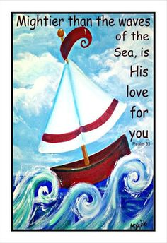 Whimsical Nautical Sailboat Nursery Quote Love Psalms Inspirational Poster Print | eBay
