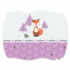 Amazon.com: Miss Foxy Fox - Squiggle Sticker Labels (1 sheet of 16): Health & Personal Care