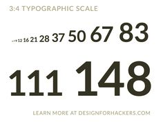 3:4 Font size scale that makes it easy for you from now on. http://designforhackers.com/blog/font-sizes/