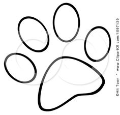 clip art print paw outlinewildcat clipart clipart kid tattoos rh pinterest com free dog paw print clip art images vector dog paw print clip art free