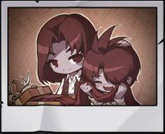 Demon and Damien as children
