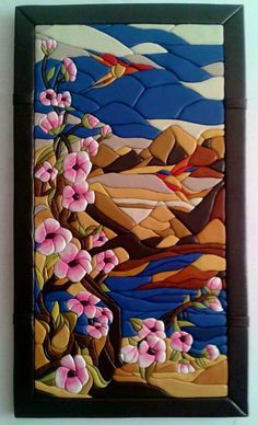одноклассники Stained Glass Flowers, Stained Glass Designs, Clay Wall Art, Intarsia Patterns, Patchwork Quilt Patterns, Japanese Quilts, Indian Art Paintings, Intarsia Woodworking, Pottery Techniques