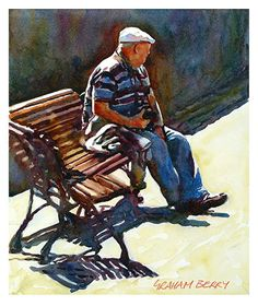 "Bench 4 by Graham Berry  ~ 12"" x 10"""