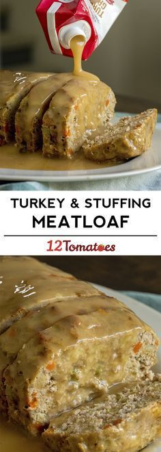 Turkey and stuffing meatloaf recipe - great for a fall dinner!