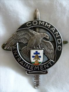 Centre Entrainement Commando 13e DBLE French Foreign Legion, Military Insignia, Cool Gear, Special Forces, Pin Badges, Coat Of Arms, Warriors, Patches, Wings