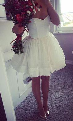 sweetheart short homecoming dress, 2017 short homecoming dress, white homecoming dress ball gown