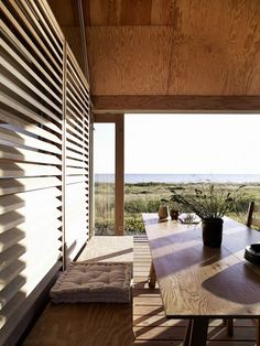 living by the sea, denmark, coast, elements, weather, life, style, scandinavian, wood, nature, lene tranberg, architect, beach, home, sliding doors, conditions, photography, wichmann bendtsen, baltic, views, interior design