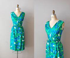 1960s dress / 60s dress floral print dress / Oceans by DearGolden, $188.00
