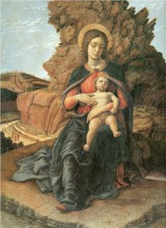 Renaissance // Madonna and Child (Madonna of the Caves) c. 1446, Andrea Mantegna