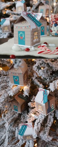 Printable Holiday Treat boxes at www.LiaGriffith.com #CraftywithCanon