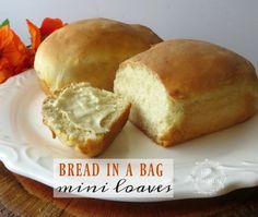Kid Friendly Bread in a Bag Mini Loaves