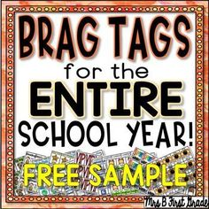 Awesome selection of brag tags for the ENTIRE school year! All in one pack! Classroom Rewards, Classroom Jobs, Classroom Decor, Teaching First Grade, First Grade Teachers, Behavior Management, Classroom Management, Class Management, Brag Tags