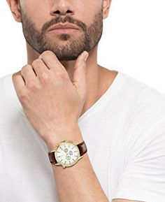Seiko Men's Stainless Steel Solar Watch with Brown Leather Stra Mens Watches Online, Watches For Men, Wrist Watches, Titanium Watches, Solar Watch, Brown Leather Strap Watch, Seiko Men, Automatic Watch, Stainless Steel Watch