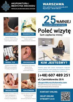 Gabinet Akupunktury i Medycyny Wschodniej.  www.gabinetakupunktury.warszawa.pl