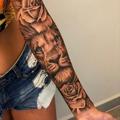 Half Sleeve Tattoos Forearm, Forarm Tattoos, Girl Arm Tattoos, Dope Tattoos, Best Sleeve Tattoos, Badass Tattoos, Body Art Tattoos, Tatoos, Rose Tattoos For Women