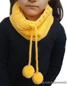 Cuello con relieve a crochet. Patrón con diagrama y video tutorial para tejerlo. Crochet Poncho, Crochet Scarves, Crochet Clothes, Crochet Baby, Neck Warmer, Knitting Patterns, Crochet Necklace, Crochet Ideas, Fashion