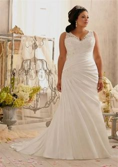 plus-size-wedding-dresses-with-straps-2016-2017-11.jpg (414×586)