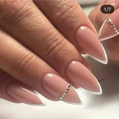 perfect pink and white nails for brides 31 Aycrlic Nails, Cute Nails, Pretty Nails, Hair And Nails, Fabulous Nails, Perfect Nails, Gorgeous Nails, Perfect Pink, Bride Nails