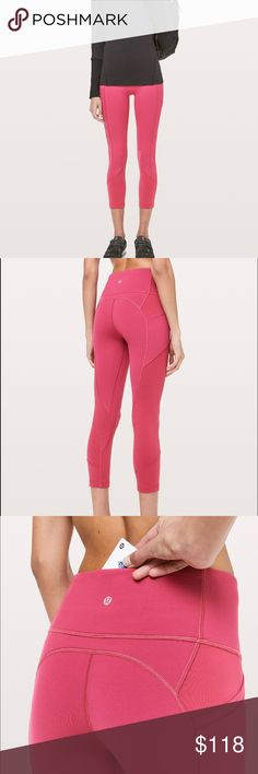 be50e3dedb8491 Shop Women's lululemon athletica Red size 12 Ankle & Cropped at a  discounted price at Poshmark. Description: Lululemon NWT 12 All The Right  Places Crop VLRD ...