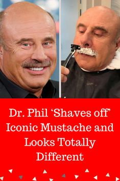 Dr. Phil is probably as much known for his trademark 'stache as he is for his straight-talking advice. So we were shocked beyond belief when we heard the news that he has shaved it all off! What would he look like? Would we even be able to recognize the new and possibly improved (although we have our doubts) Dr. Phil sans his mustache? #interesting #trending #viral #news #entertainment #memes #Shaves #off #Looks #Totally #Different