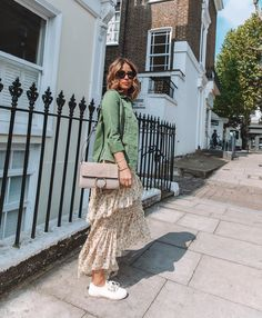 I Can't Stop Saving Outfits From Rachel Stevens' Insta Brown Suits, Black Suits, Rachel Stevens Style, 50 Fashion, Spring Fashion, Yellow Suit, Khaki Jacket, Leopard Print Top, White Trousers