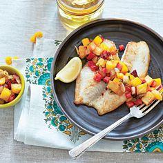 Coastal Living - Grilled Pineapple-Mango Salsa   MyRecipes.com