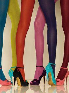 Värikkäät sukkikset. Niin pirtsakkaa!