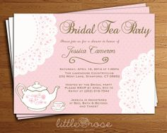 Doily Bridal Tea Party Invitation Bridal by LittleRoseStudio, $12.00