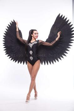Black Angel Wings, Black Angels, Trending Outfits, Unique, Clothes, Vintage, Etsy, Fashion, Dark Angels