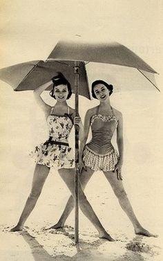 Vintage swim dresses retro-elegance