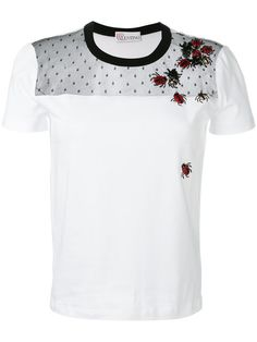 RED VALENTINO Embroidered Ladybug T-Shirt. #redvalentino #cloth #t-shirt