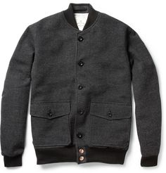 Private White V.C. Wool-Tweed Bomber Jacket | MR PORTER