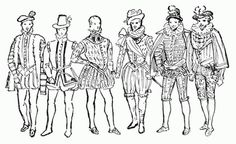 Guide to William Shakespeare: The Elizabethan Male Fashions, 16th Century
