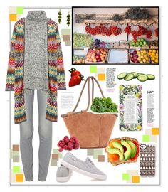 """""""Walking at the market..."""" by natalyapril1976 ❤ liked on Polyvore featuring Paige Denim, Fat Face, Missoni, Casetify, The Row, Rifle Paper Co and Pottery Barn"""