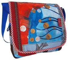 """""""Blue Mix"""" ist die Neue von Leolini!  Sie wurde besonders aufwendig verarbeitet.    Bei der neuen Leolinitasche handelt es sich um ein 100% handgefertigtes Unikat.     Damenhandtachen von www.leolini.com"""