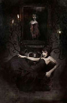 Macabre & Horror Digital art by Damien Worm Gothic People, Classic Fairy Tales, Dark Images, Dark And Twisted, Dark Gothic, Victorian Gothic, World Of Darkness, Goth Art, Creepy Art