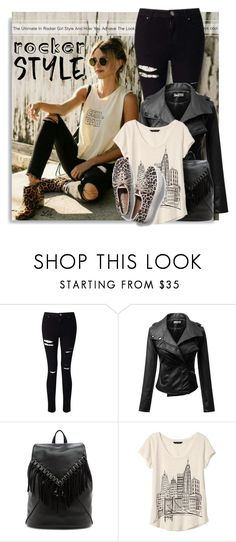 """""""Rocker Chic"""" by breathing-style ❤ liked on Polyvore featuring Miss Selfridge, Sole Society, Banana Republic and Keds"""