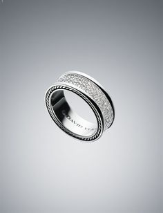 David Yurman Men's White diamond pave ring ...would work for a woman as well :-)