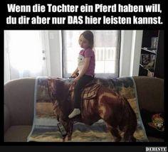 Wenn die Tochter ein Pferd haben will.. | Lustige Bilder, Sprüche, Witze, echt lustig