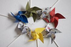 Enchanted forest/woodland baby shower/ woodland Party favor Pinwheels Owl Party Decor -12 Mini Pinwheels (Custom orders welcomed)
