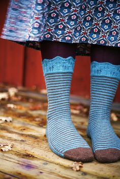 Ravelry: DorotheaAmelias Laurelhurst I love the lace at the top and the stripes