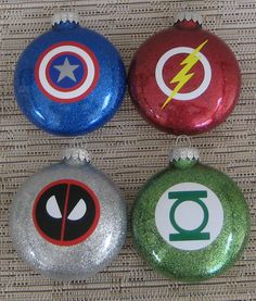 Superhero Ornaments-Deadpool Green Lantern Captain by TheHappyHook