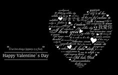 Valentines Day Cards Black and White